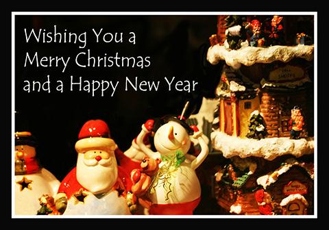 Christmas toys greeting