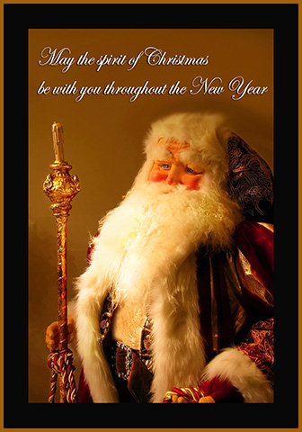 Old Santa Claus greeting card