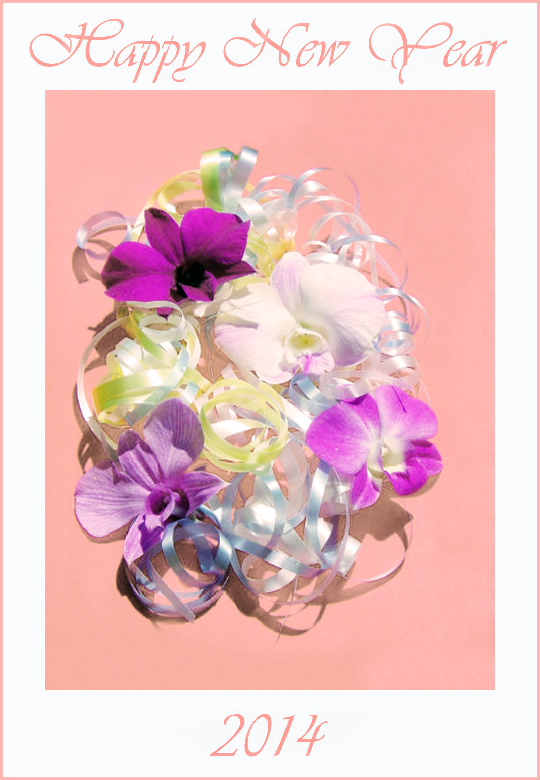 Happy new year 2014 flowers free printable greeting cards happy new year 2014 flowers m4hsunfo