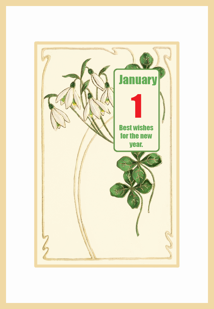 ... Nouveau New-Year-card-with-snowdrops | Free Printable Greeting Cards: free-printable-greeting-cards.com/new-year-greeting-cards/new-year...