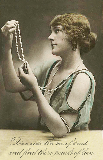 Pearls of Love Valentine Card