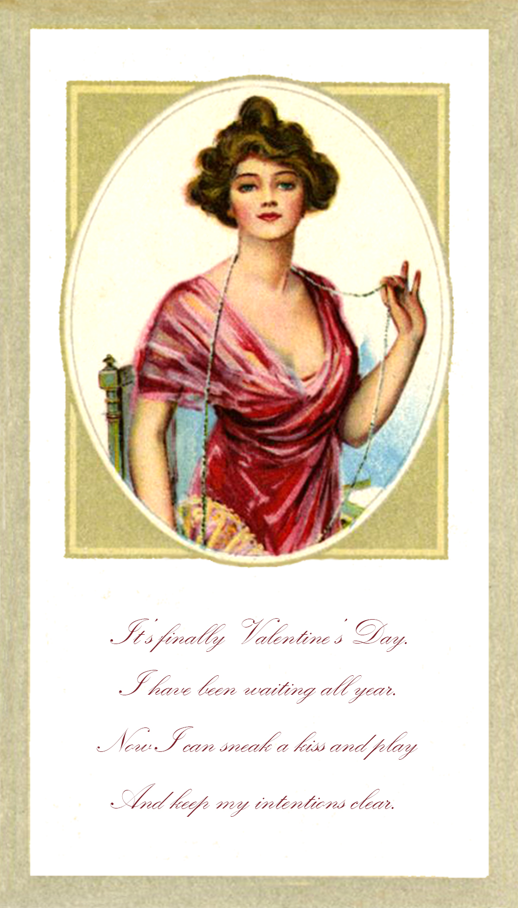 Valentine card with poem