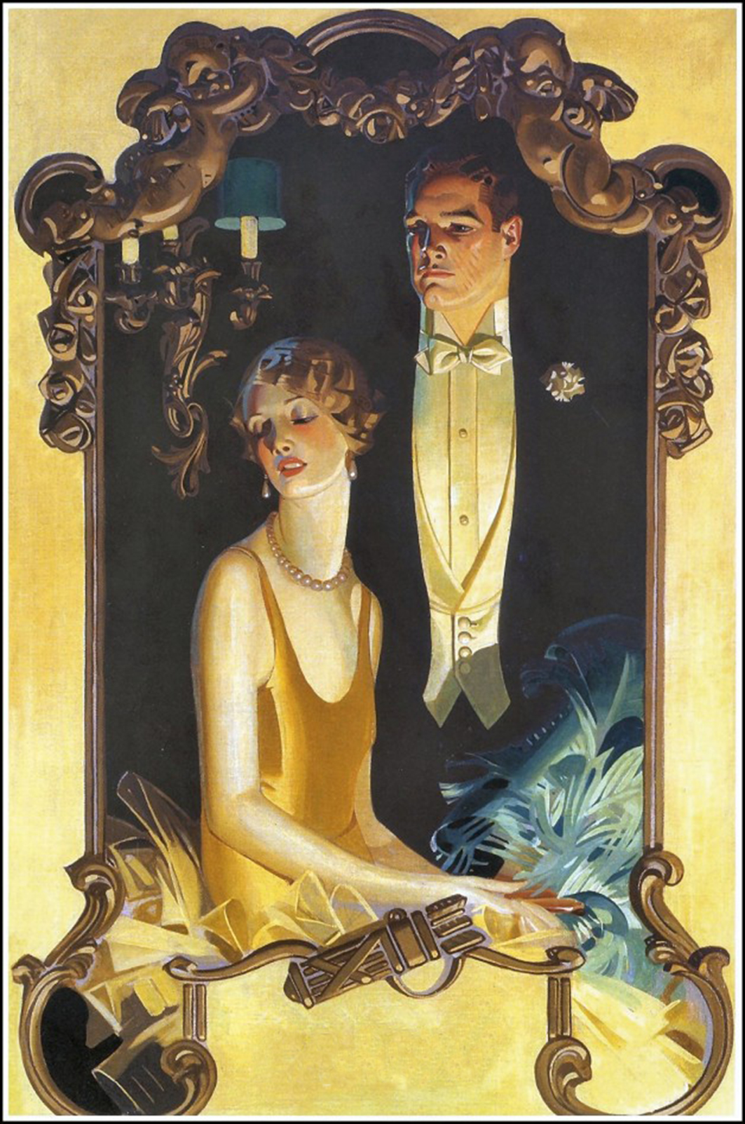 Party invitation art nouveau