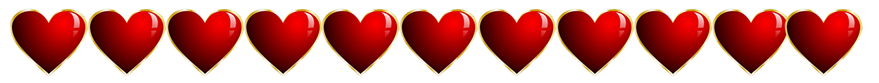 Valentine heart border