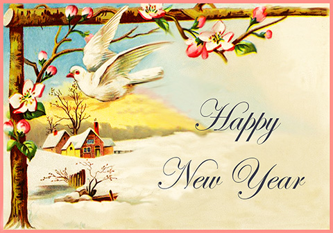 beautiful new year card