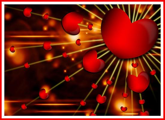 printable love heart Valentine card