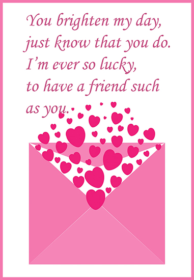 printable Valentine greeting card
