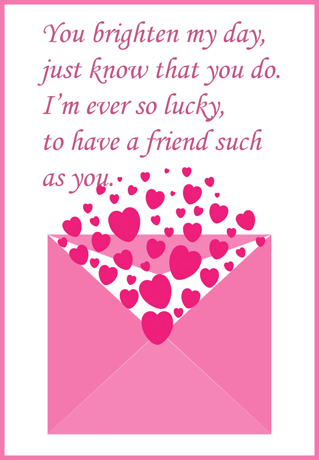 Printable valentine cards free printable greeting cards for What to put on a valentines card