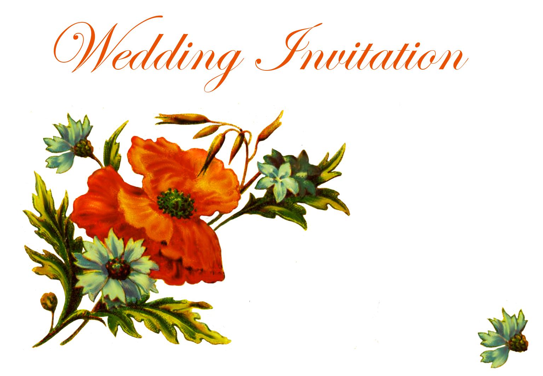 Wedding invitations with poppy
