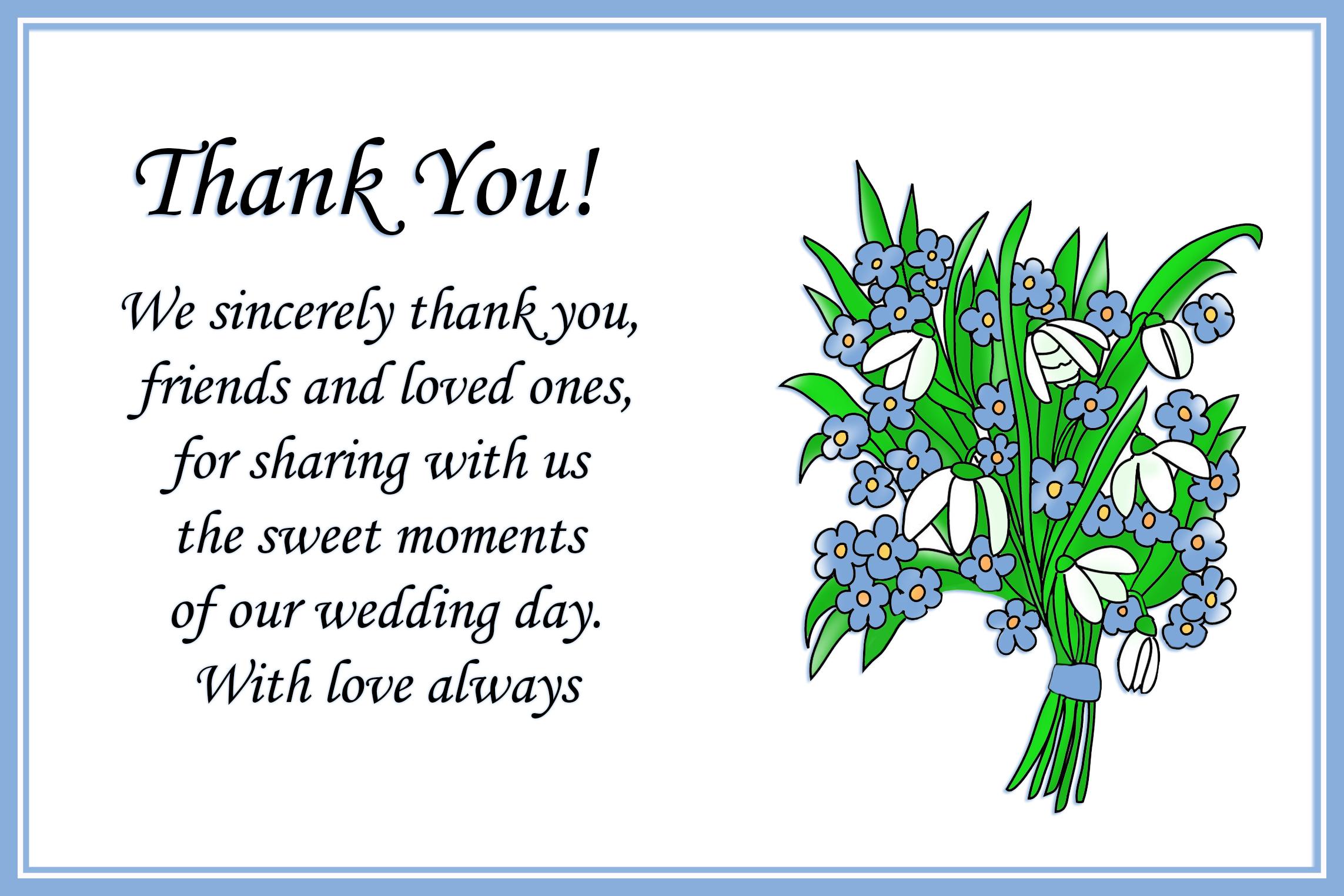 Printable Thank You Cards – Free Printable Wedding Thank You Cards