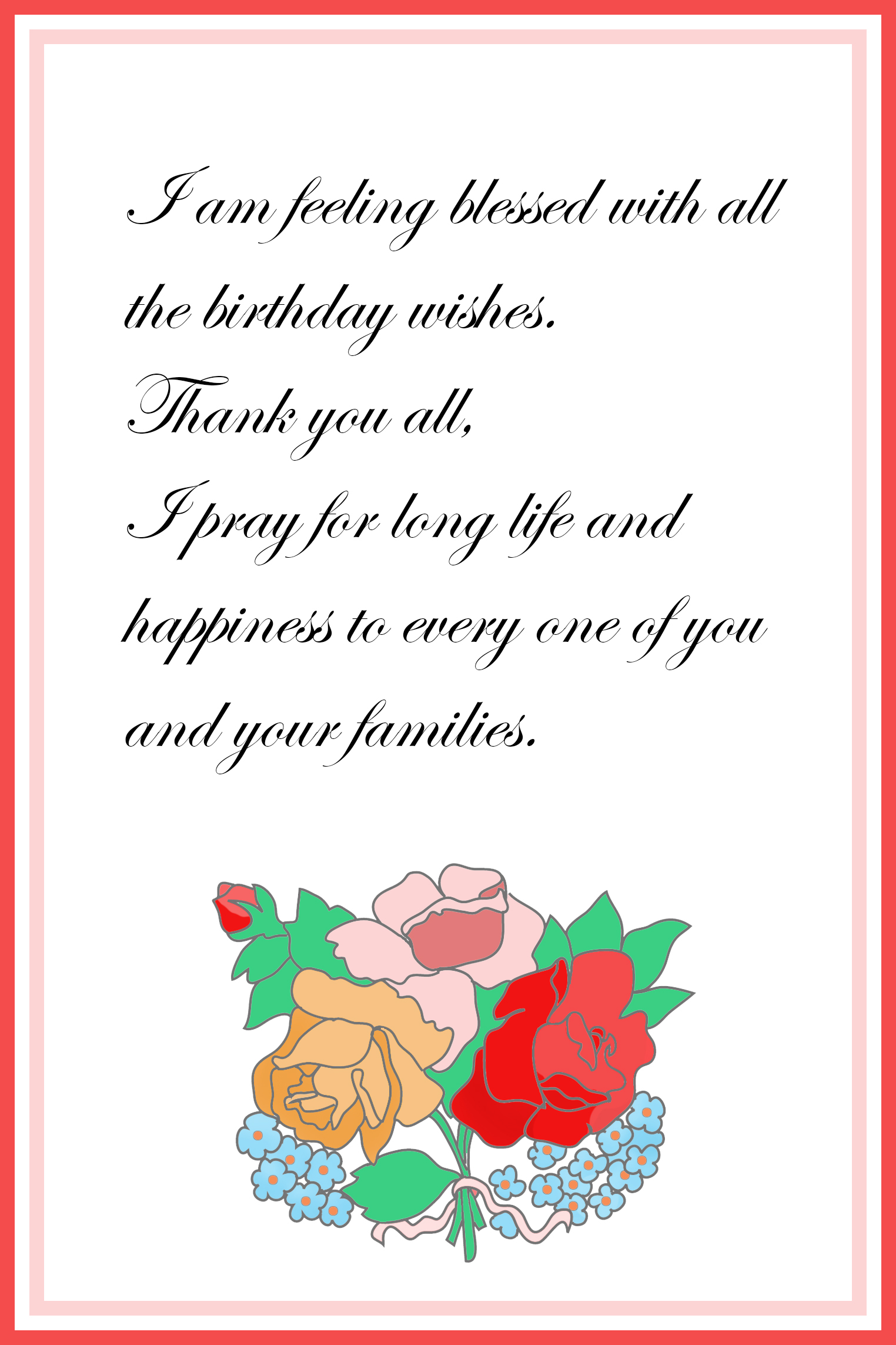 Printable thank you cards free printable greeting cards birthday thank you card s birthday thank you card with message kristyandbryce Images