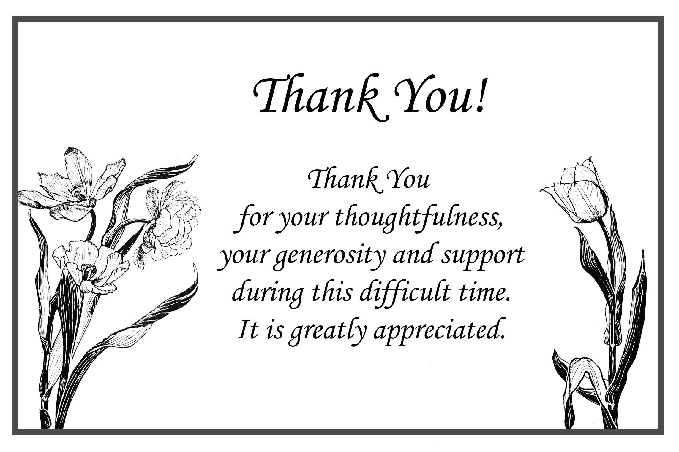 Printable thank you cards free printable greeting cards thank you for sympathy card funeral thank you card thecheapjerseys Image collections