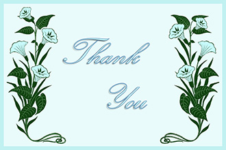 blue bindweed printable thank you card