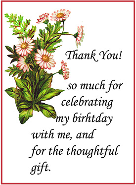 birthday thank you card