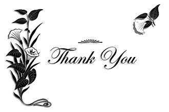 Thank you card to print
