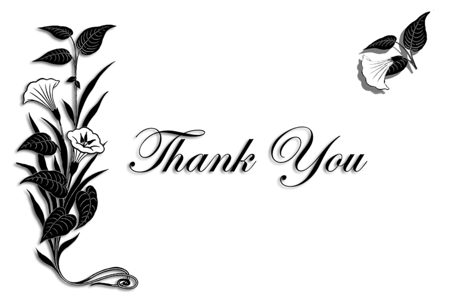 Sweet image in free printable thank you cards black and white