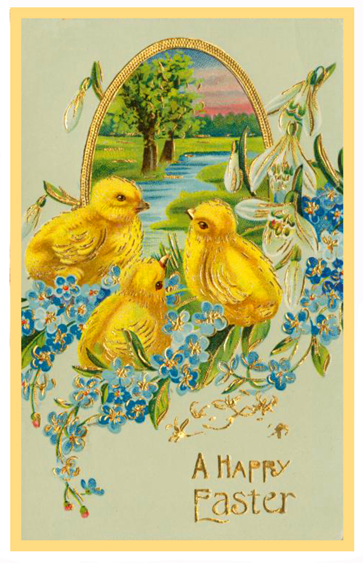easter-card-chickens-water