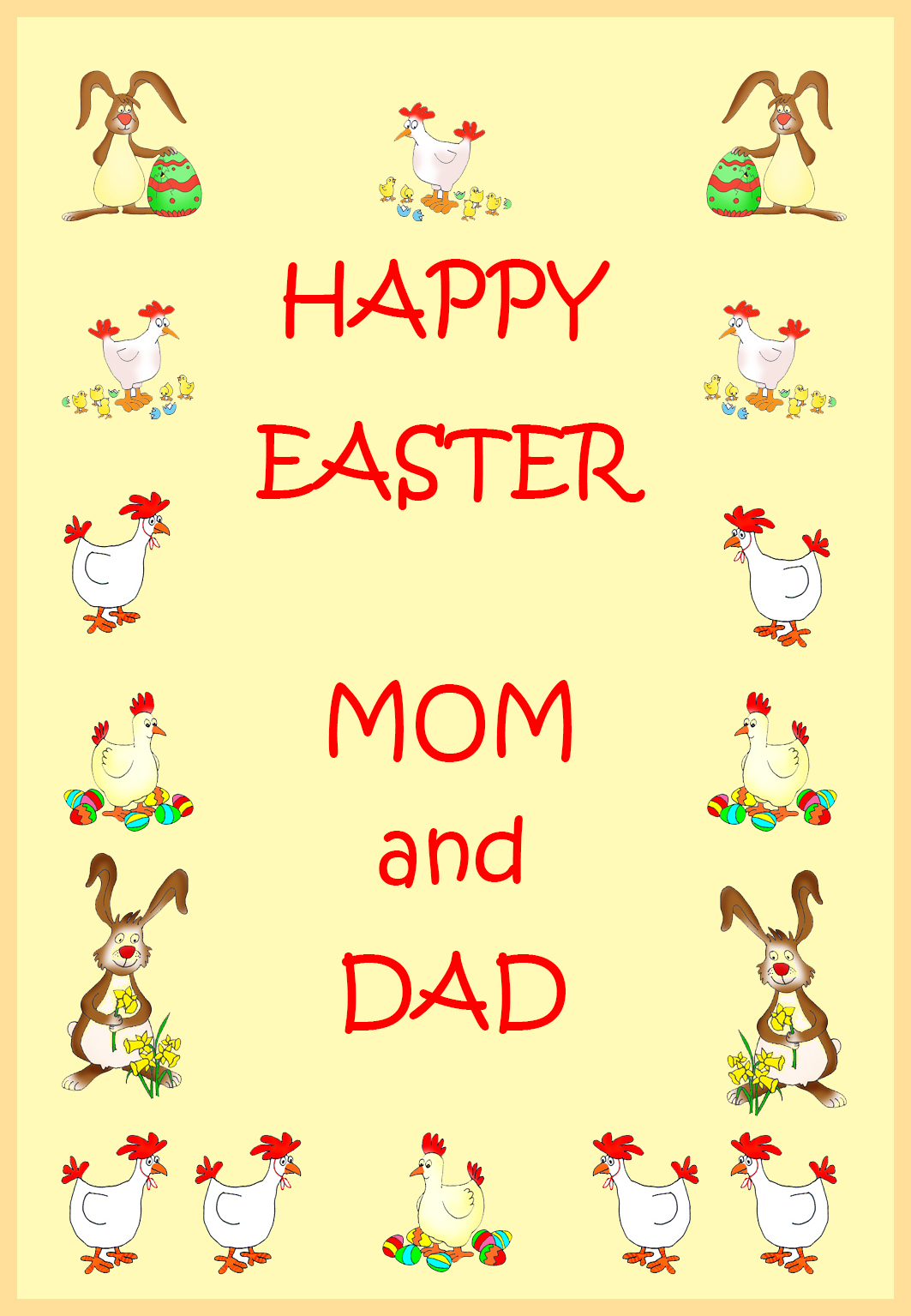 happy Easter to mom and dad