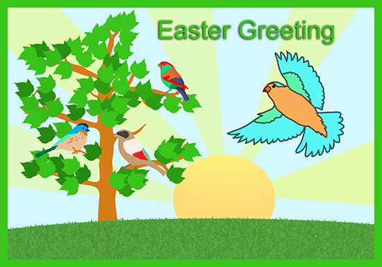 Nature Easter greeting