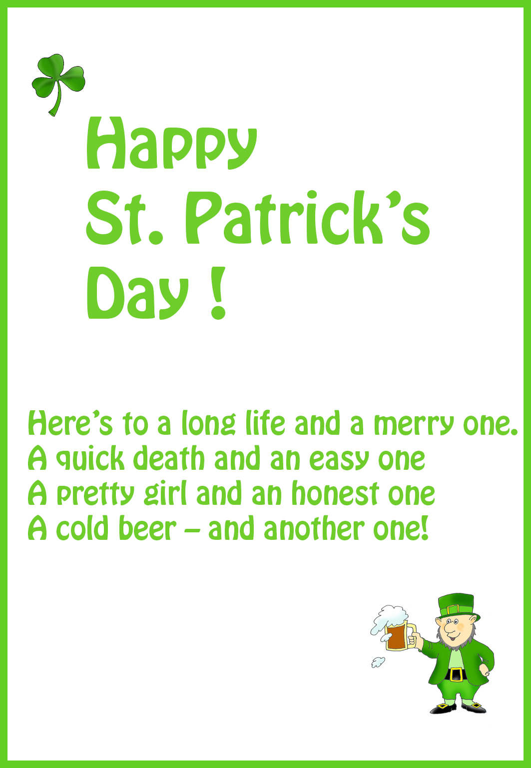 St patricks day ecards
