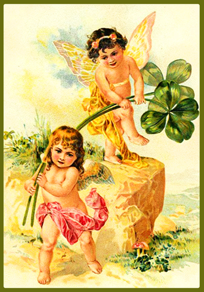 St. Patrick's day cupids