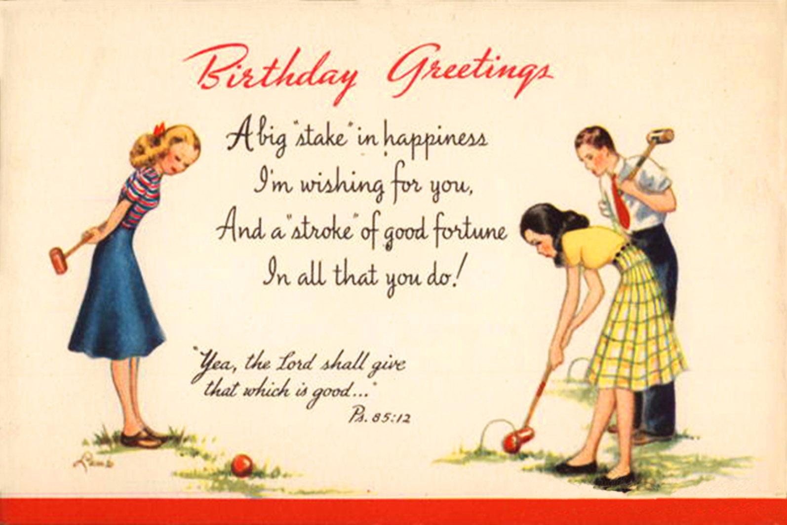 Funny Birthday Greetings