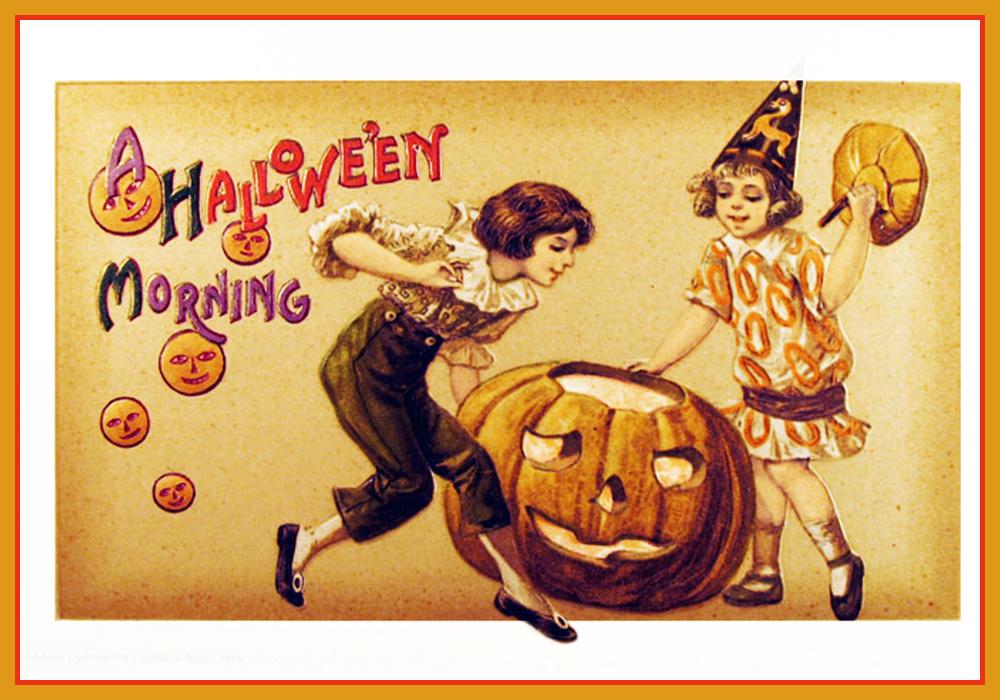 Halloween vintage postcard Etsy