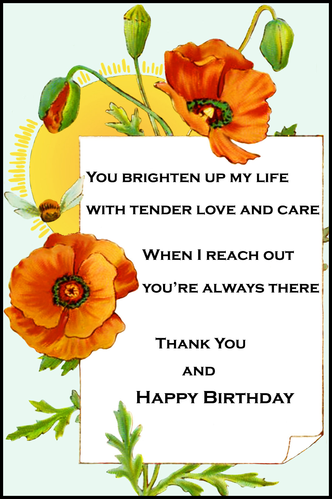 Happy Birthday Card for You – Birthday Greeting Poems