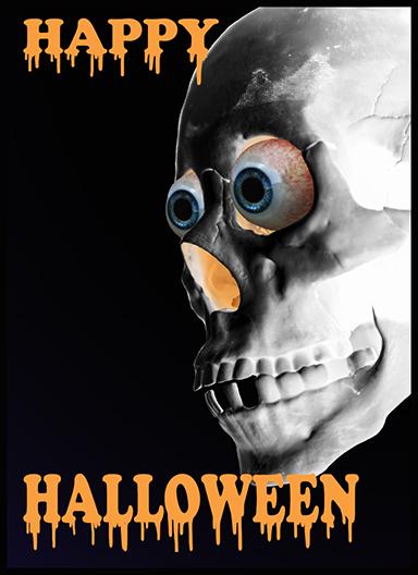 scary Halloween humor skull