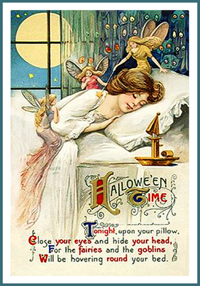 Vintage Halloween Postcards And Halloween Poems Free Printable