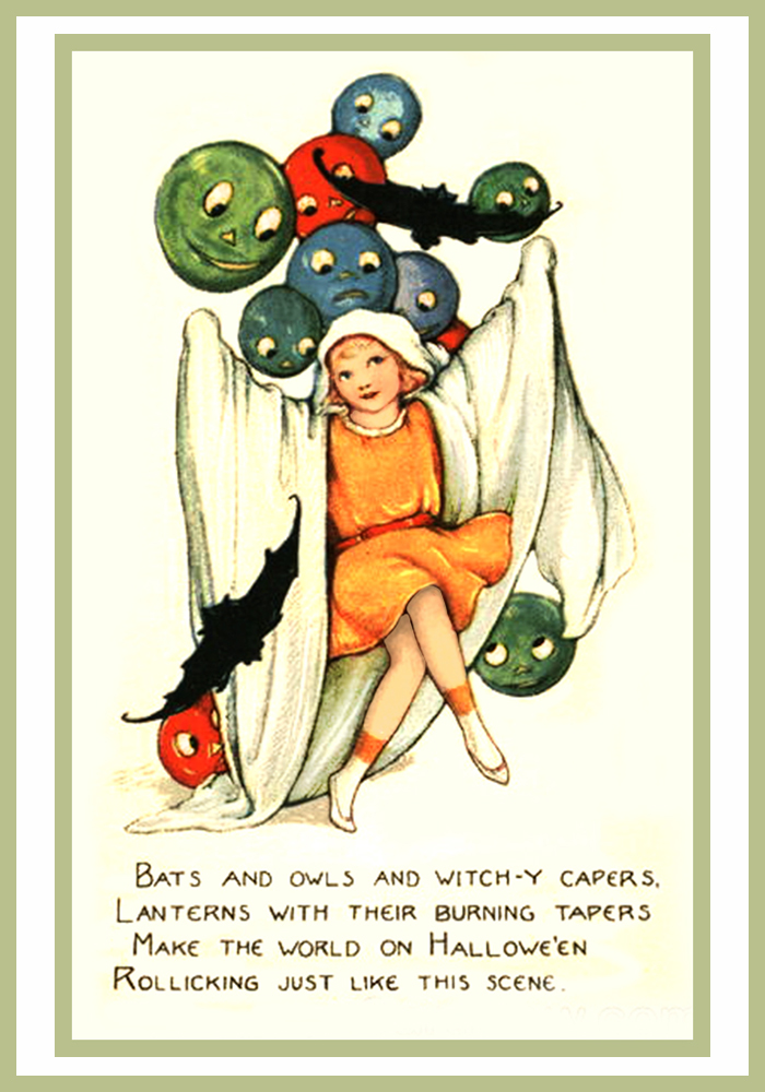 14 Vintage Halloween Postcards And Halloween Poems – Free
