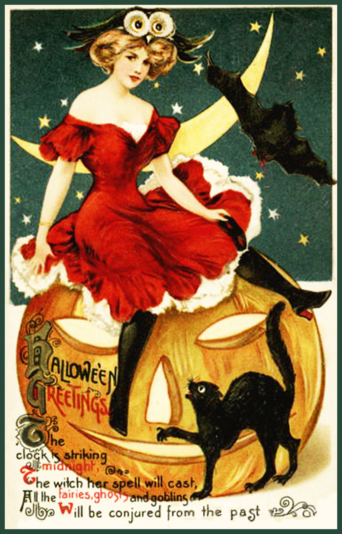 Vintage Halloween Postcards And Poems