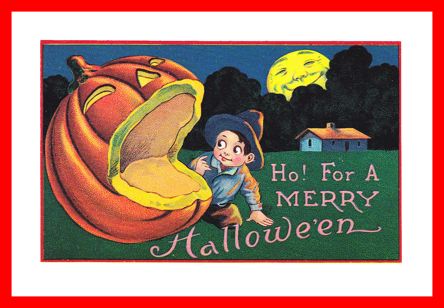 Halloween card for kids