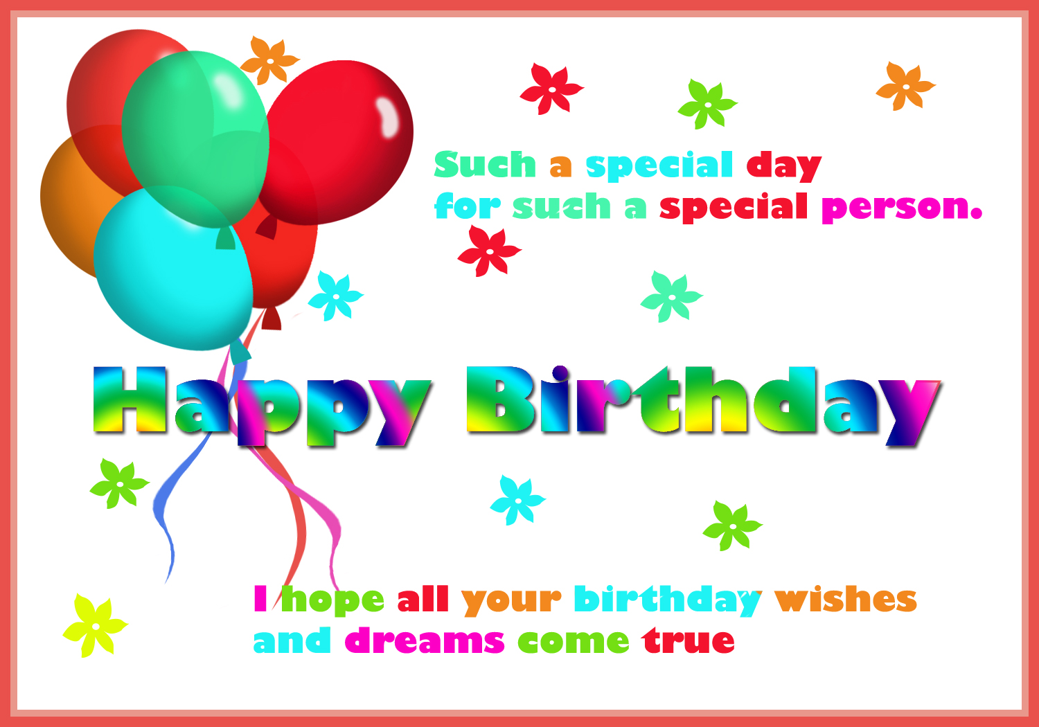Happy Birthday Card for You – Free Printing Birthday Cards