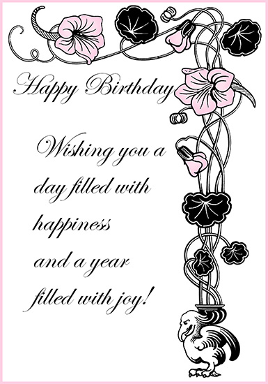 Happy birthday card greeting
