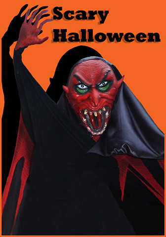 scary and funny Halloween greeting card