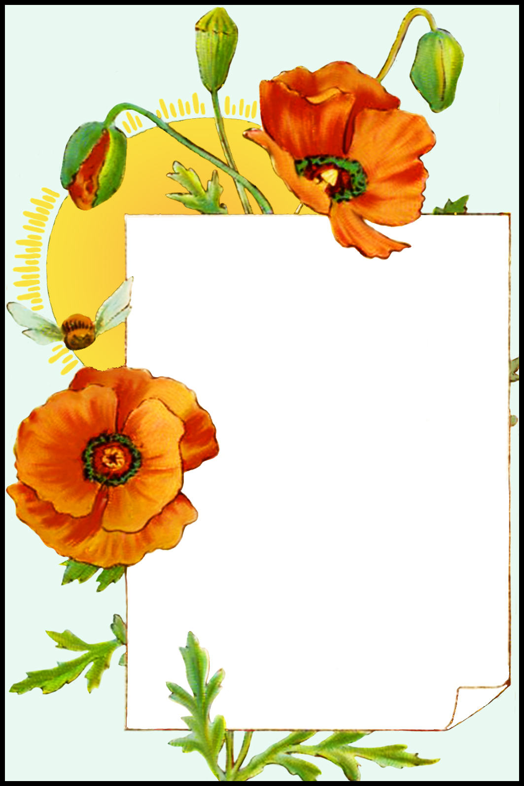 printable birthday card with flowers