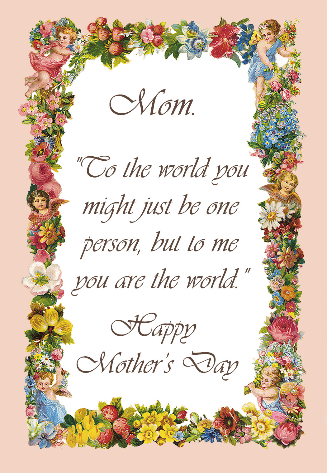 17 Mothers Day greeting cards – Free Printable Mother Birthday Cards