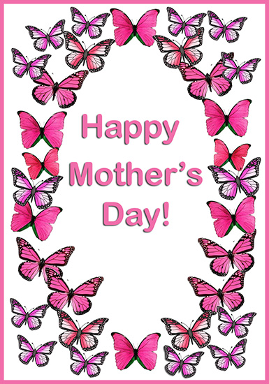 butterflly card for Mother's day