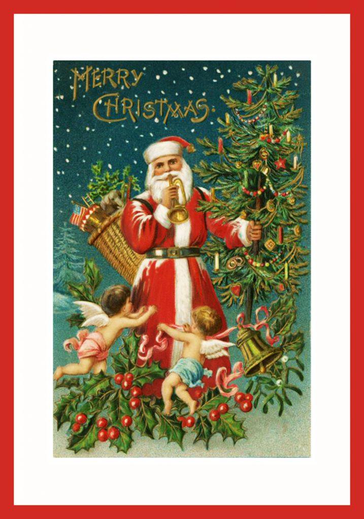 Santa Claus with trumpet