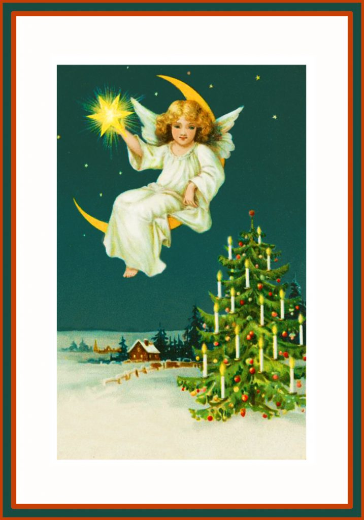 Angel with Christmas star