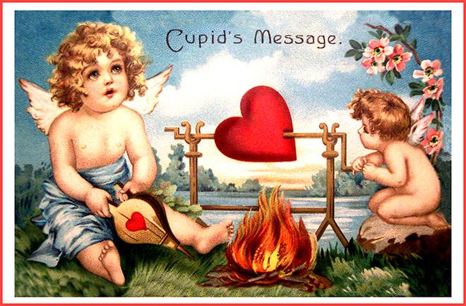 Valentine cupid card