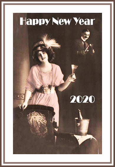 Vintage New year card