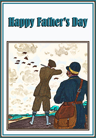 Father's day card hunting motive