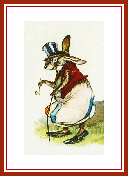 funny postcard rabbit tramp