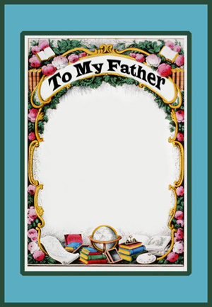 Father's Day cad with flowers
