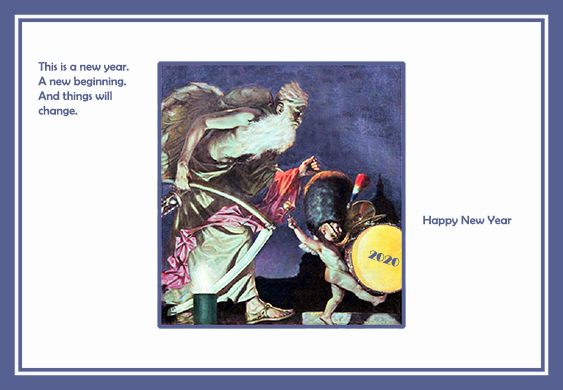 Happy New year card old year