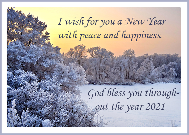 A winter New Year card